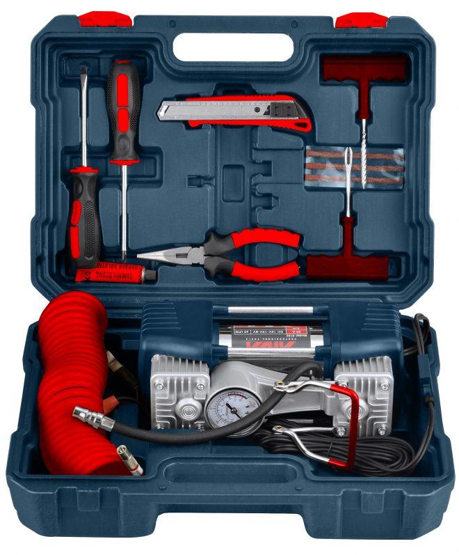 همکاری در فروش ابزار 118 کمپرسور باد فندکی دو سیلندر آروا مدل 5133 2