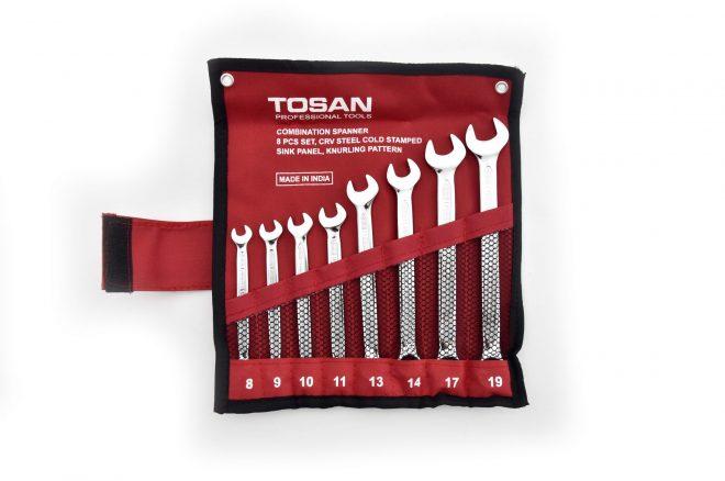 همکاری در فروش ابزار 118 آچار کیفی 8 عددی توسن