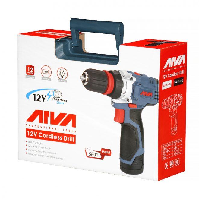 همکاری در فروش ابزار 118 دریل شارژی آروا مدل 580111