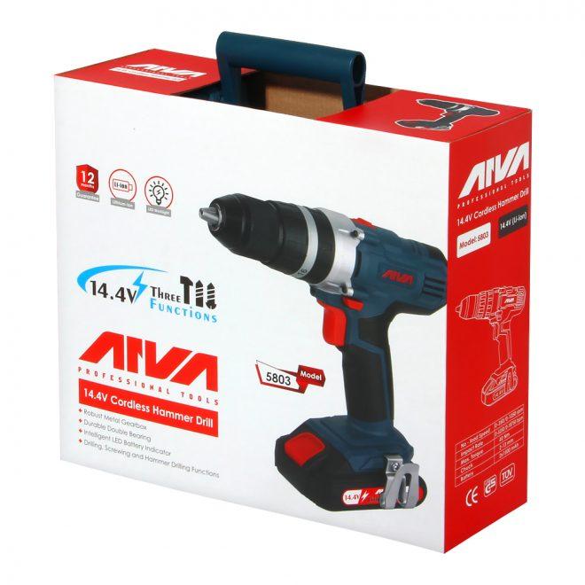 همکاری در فروش ابزار 118 دریل شارژی آروا مدل 58038