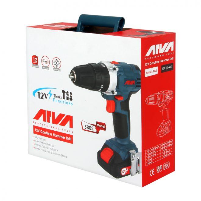 همکاری در فروش ابزار 118 دریل چکشی شارژی آروا مدل 58029