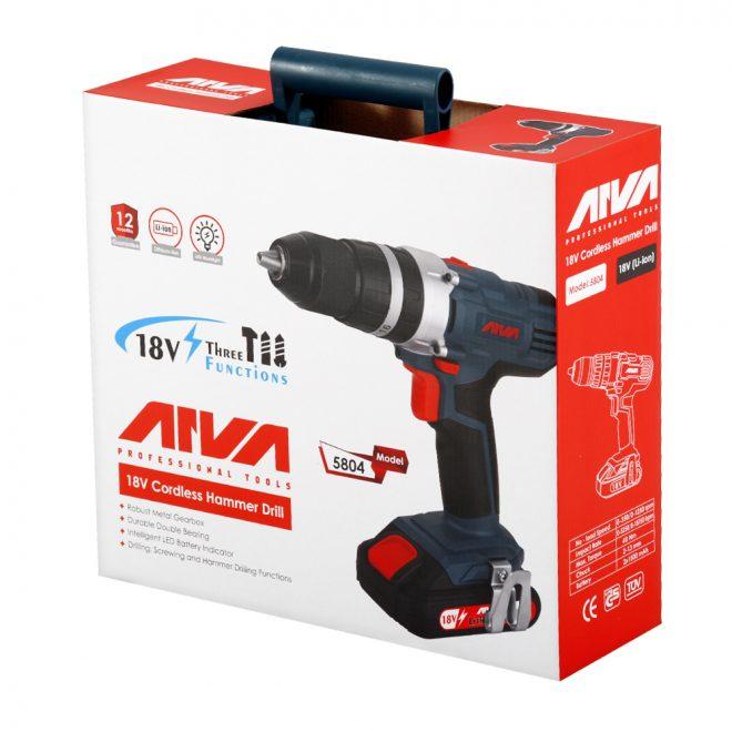 همکاری در فروش ابزار 118 دریل چکشی شارژی آروا مدل 5804 7